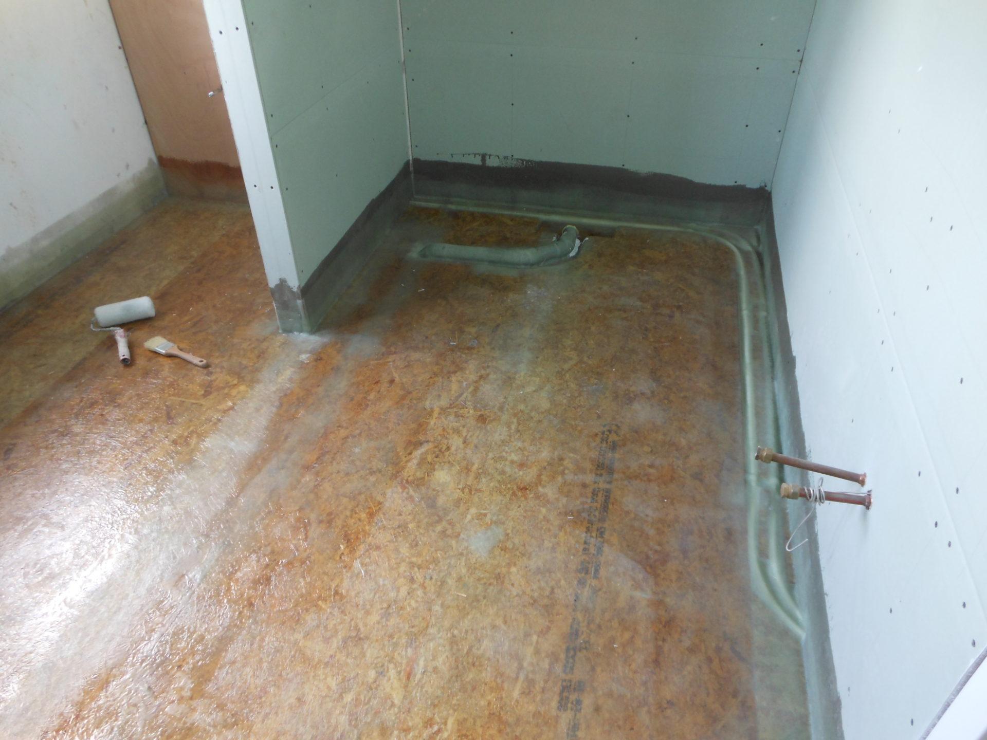Polyester badkamer vloeren - polywaard